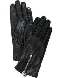 Michael Kors | Lock Zipper Leather Gloves | Lyst