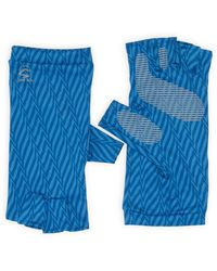 Sunday Afternoons Uv Shield Cool Fingerless Gloves - Blue