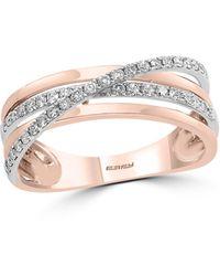 Effy - Effy Diamond Ring In 14k Rose Gold - Lyst