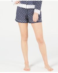 Charter Club Woven Cotton Pyjama Shorts, Created For Macy's - Blue