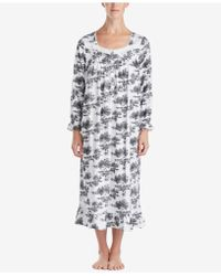 Eileen West - Printed Ballet-length Nightgown - Lyst