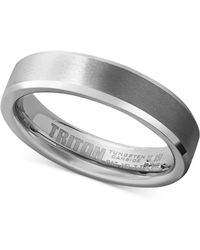 Triton - Men's White Tungsten Carbide Ring, Wedding Band (5mm) - Lyst