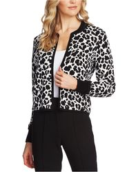 Vince Camuto Jacquard Leopard-print Jacket - Black