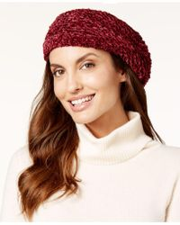 Charter Club - Velvety Solid Chenille Beret, Only At Macy's - Lyst