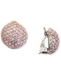 Nina Swarovski Pavé Dome Clip-on Earrings - Metallic