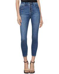 BCBGMAXAZRIA The High-rise Skinny Crop Jeans - Blue
