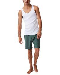 Cotton On Organic Jersey Sleep Shorts - Multicolor