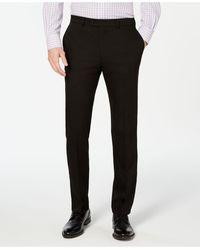 Vince Camuto Slim-fit Stretch Wrinkle-resistant Suit Pants - Black