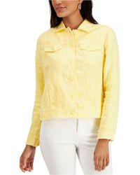Charter Club Linen Jacket, Created For Macy's - Yellow