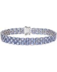 Macy's | Tanzanite Three-row Bracelet (22 Ct. T.w.) In Sterling Silver | Lyst