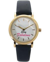 Olivia Pratt Stay Fabulous Leather Strap Watch - Blue