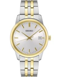 Seiko - Essential Two-tone Stainless Steel Bracelet Watch 40mm - Lyst