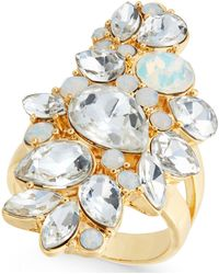 INC International Concepts - Gold-tone Crystal Cluster Ring - Lyst