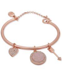 Ivanka Trump - Rose Gold-tone Charm Bangle Bracelet - Lyst