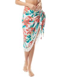 Vince Camuto Fringe-trim Pareo Cover-up - White