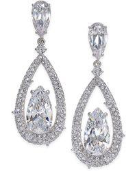 Danori - Silver-tone Cubic Zirconia Drop Earrings - Lyst