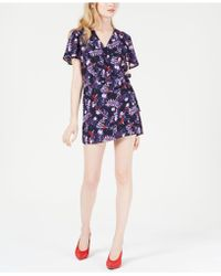 Maison Jules - Floral-print Wrap-front Romper, Created For Macy's - Lyst