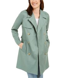 Charter Club Petite Classic Trench Coat, Created For Macy's - Green
