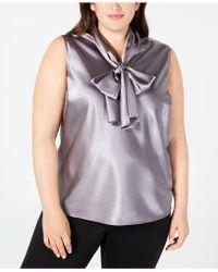 Nine West - Plus Size Tie-neck Sleeveless Camisole - Lyst