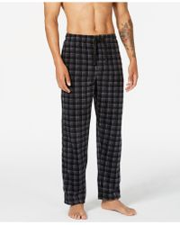 Perry Ellis Fleece Pajama Pants - Black