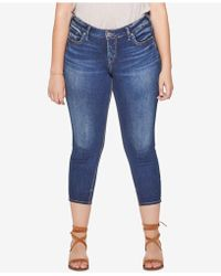 Silver Jeans Co. - Plus Size Suki Skinny Cropped Jeans - Lyst