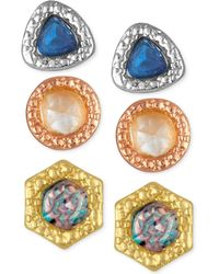 RACHEL Rachel Roy - 3-pc. Set Stone Earring Jackets - Lyst