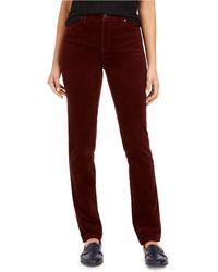 Charter Club Petite Lexington Straight-leg Corduroy Pants, Created For Macy's - Red