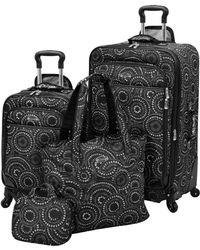London Fog Waverly Boutique 4 Piece Luggage Set - Black