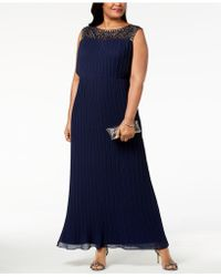 Alex Evenings - Plus Size Pleated Illusion Gown - Lyst