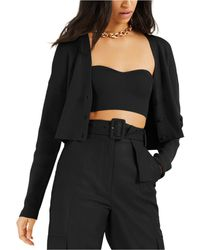 INC International Concepts Culpos X Inc Sweater-knit Bustier, Created For Macy's - Black