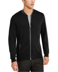 INC International Concepts Zip-front Cardigan, Created For Macy's - Black