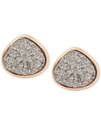 Kenneth Cole - Rose Gold-tone Druzy Stone Stud Earrings - Lyst