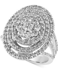 Effy Collection | Diamond Oval Bouquet Ring (1-3/4 Ct. T.w.) In 14k White Gold | Lyst