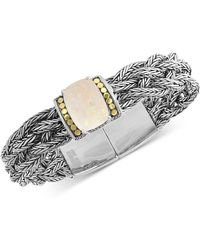 Effy Collection - Effy® Opal (7-9/10 Ct. T.w.) Woven Bracelet In Sterling Silver & 18k Gold-plate - Lyst