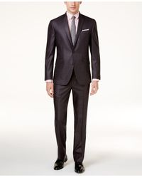 Kenneth Cole Reaction Ready Flex Basketweave Slim-fit Big And Tall Suit - Grey