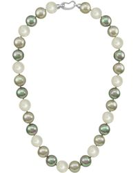 Majorica - Pearl Necklace, Sterling Silver Multicolor Organic Man Made Pearls - Lyst