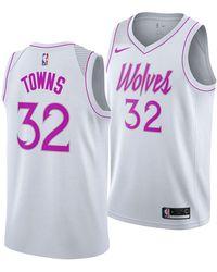 73d1719065b Nike - Karl-anthony Towns Minnesota Timberwolves Earned Edition Swingman  Jersey - Lyst