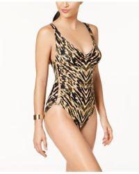 Carmen Marc Valvo - Reflections Cutout Cheeky One-piece Swimsuit - Lyst