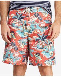 409d08db40 Ralph Lauren Polo Big and Tall Kailua Swim Trunks in Blue for Men - Lyst