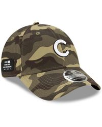 KTZ Camo Chicago Cubs 2021 Armed Forces Day 9forty Adjustable Hat - Green