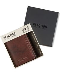 Kenneth Cole Reaction Men's Crunch Rfid Extra-capacity Trifold Wallet - Brown