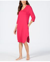 Sesoire Long Knit Nightgown - Red
