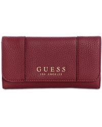 91bbc3ae0b Lyst - Guess Kingsley Large Zip Around Wallet