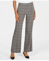 Nine West - Plaid Wide-leg Trousers - Lyst