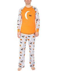 Munki Munki Spooky Sketchy Halloween Family Pajama Set - Gray