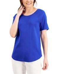 Karen Scott Cotton Top, Created For Macy's - Blue