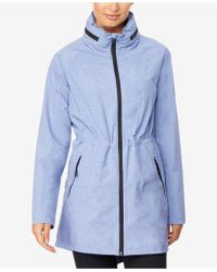 32 Degrees - Hooded Cinched-waist Anorak Raincoat - Lyst