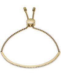 Michael Kors - Clear Bar Slide Bracelet - Lyst