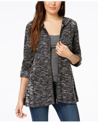 Style & Co. - French Terry Utility Jacket, Created For Macy's - Lyst