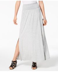 Style & Co. - Smocked-comfort-waist Maxi Skirt, Created For Macy's - Lyst